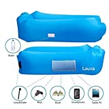 Lauva Air Sofa, Inflatable Lazy Lounger with Headrest,Self-Inflating Sleeping Mattress Couch Pad Carrying