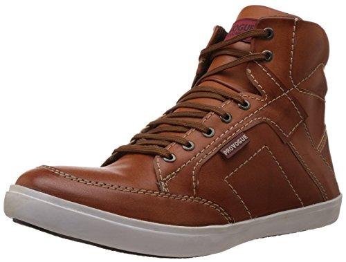 Provogue Men's Tan and Beige Sneakers – 8 UK 41fQu037R 2BL