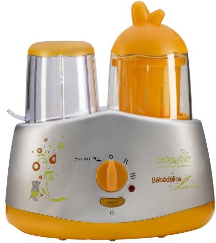 Babymoov A001002 - Multifunktionsgerät Bebedelice limitierte Auflage - 5 Funktionen in einem Gerät - Prämie: 3 farbige Mikrowellenbehälter gratis