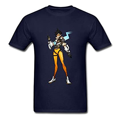 Tracer Overwatch Heroes number design Men