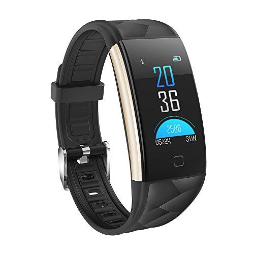 Fitness Tracker, KASSADIN Wristband cardiofrequenzimetro, contapassi intelligente banda attività bracciale sportivo con schermo a colori/IP67 impermeabile/pressione arteriosa di ossigeno monitor
