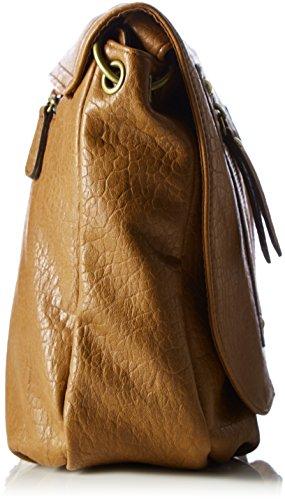 s.Oliver - Borsa a tracolla da Donna, 28x23x9 cm Marrone (mocha 8761)