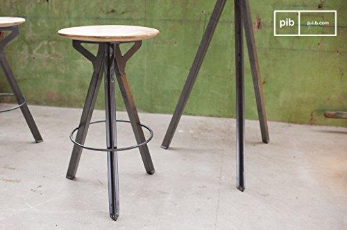 Pomax pib sgabelli sgabello da bar jetson in stile vintage