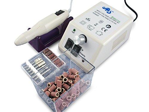 Hornhautentferner Set Schleifgerät mit 150 Schleifhülsen und Diamantschleifer (Grobe Nagelfeile Extra)