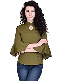 7b74c8a90b5d53 Amazon.in  Crepe - Shirts   Tops