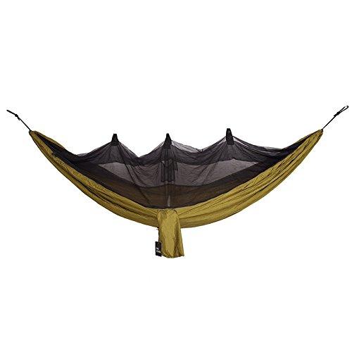 OneTigris Camping Hängematte mit Moskitonetz Belastbarkeit 200kg