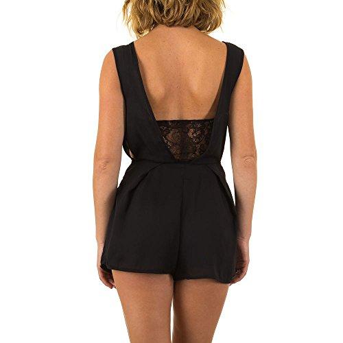 Hot Pants Jumpsuit Overall Für Damen bei Ital-Design Schwarz