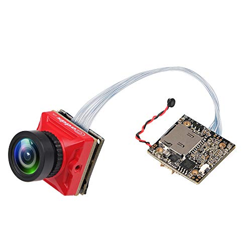 FPV Kamera Caddx Turtle V2 HD 1080P / 60fps Mini HD Kamera DVR 800TVL CMOS 1.8mm Objektiv 16: 9/4: 3 NTSC / PAL umschaltbar mit OSD FOV 165 Audio unterstützt für FPV Quadcopter Racing Drone (800tvl Dvr)