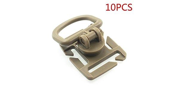 Idyandyans 10pcs Tactical Grimlock Rotation D-Ring Clips Buckle molle gewebtes Material Befestigung Rucksack Karabiner
