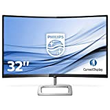Philips 328E9FJAB Freesync Gaming Monitor Curvo LED 32', QHD 2560 x 1440, pannello VA, HDMI, DP, VGA, Audio Integrato, Flicker Free, Low Blue Light, Cornice Sottile, Ultra Wide Color, con VESA, Nero
