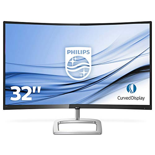 Philips 328E9QJAB/00 80 cm (31,5 Zoll) Curved Monitor (VGA, HDMI, FHD, DisplayPort, 5ms Reaktionszeit, 60 Hz, 1920 x 1080) schwarz Full Color Monitor