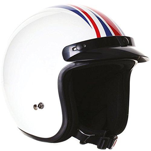 Stealth HD320vetroresina Open Face casco moto, Uomo Donna, Union Jack