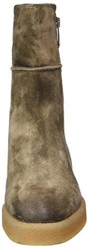 Marc O'Polo Damen Flat Heel Bootie 70914296001304 Schlupfstiefel Braun (Taupe)