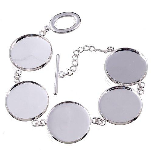 Küchenmesser-Set, Rund, Zargenfassung, Der Unterlage Armband Cabochon 23 mm Disc - 23 cm Länge BB371
