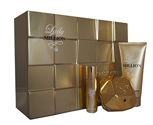 Paco Rabanne Lady Million Gift Set 80ml EDP + 10ml EDP + 100ml Body Lotion