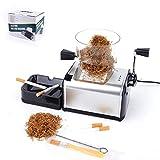 Machine à Tuber Les Cigarettes électrique acier inoxydable,Boîte Rouleuse Tabac Premium Machine a...