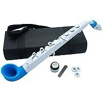 Nuvo Instrumental JWBL jSax Saxofón blanco con guarnecido azul