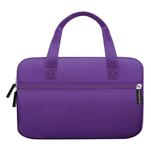 MoKo Universal 7-8 Inch Amazon Tablet Tasche, Tragbar Neoprene Handtasche für Fire 7 2019/2017, Fire HD 8 2018, Fire HD 8 Kids Edition, Fire 7 Kids Edition - Violett