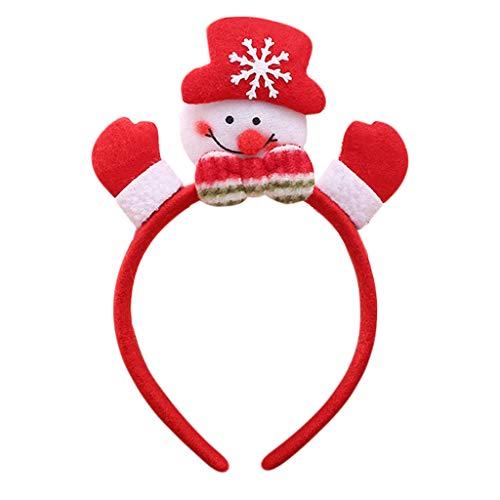 Cuigu Weihnachten Haarreife - Party Ornament Haarband Mit LED Light Luminous Glow Schneemann Stirnband