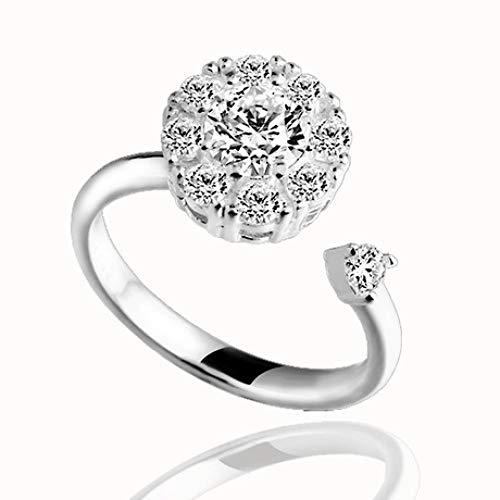 Glz Ring Swirl Ring S925 Sterling Silber Diamant Ring offen Silberring (Verlobungsring Swirl)