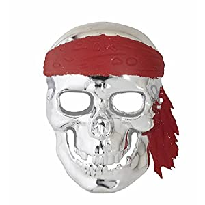 WIDMANN Mascara Calavera Pirata plateada adulto Medieval