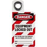 Brady Padlock Danger - Equipment Locked Out Tag, Vinyl, 3 Height, 2 Width