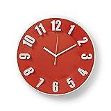 Nedis Reloj de Pared Circular 30 cm de diametro Rojo