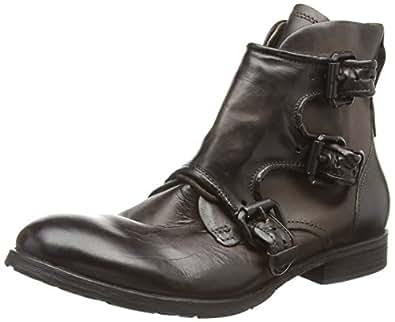 A.S.98  401202-010, Bottes de motard de hauteur moyenne, doublure froide hommes - Marron - Braun (Choco), 44 EU