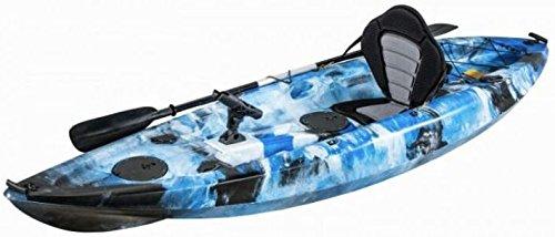 KAYAK DE PESCA 295x78x35 cm AZUL CAMO | Canoa equipada...