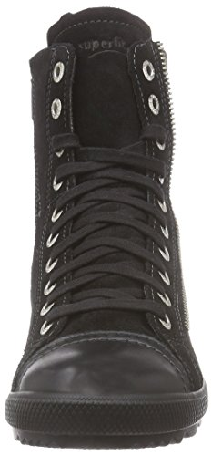 Superfit - Lina, Sneaker Bambina Nero (Nero (Nero 00))