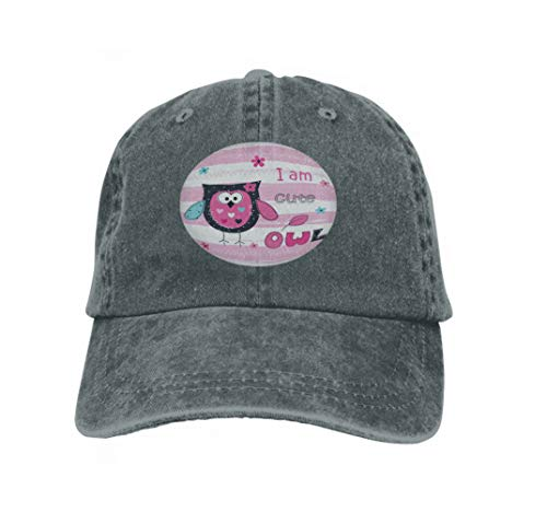 Owl Baby Kostüm Cute - Xunulyn Unisex Women Cotton Adjustable Baseball Caps Low Profile Washed Dad Hats Background Cute owl Baby Shower Greeting carddesign Charming
