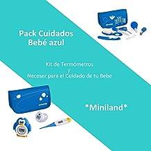 Pack Cuidados Bebé Color Azul: Neceser para el Cuidado de tu Bebé y Kit de Termómetros