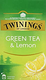 Twinings Of London Té Green Tea & Lemon - 3 Paquete de 25 Bols
