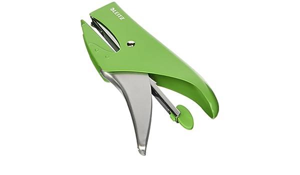 Leitz Cucitrice a pinza Capacit/à fino a 15 fogli Colore: Acquamarina metallizzato WOW 55472051 Caricamento posteriore Metallo