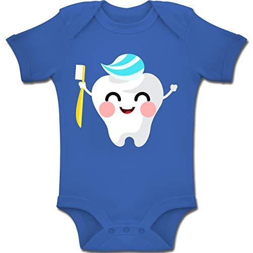 Shirtracer Anlässe Baby - Zahnfee mit Zahnpasta - 3-6 Monate - Royalblau - BZ10 - Baby Body Kurzarm Jungen Mädchen