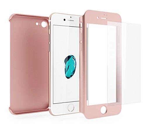 Funda iPhone 7 360 Grados Completa - Carcasa Integral y Cristal de Vid