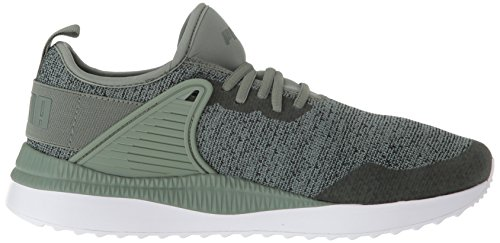 PUMA Men s Pacer Next Cage Knit Sneaker  Laurel Wreath-Forest Night  8 5 M US