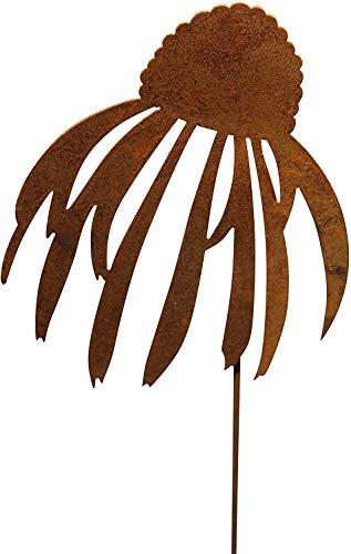Bornhöft Gartenstecker Blume Metall Rost Gartendeko Edelrost Sonnenhut 66cm (Sonnenhut klein)