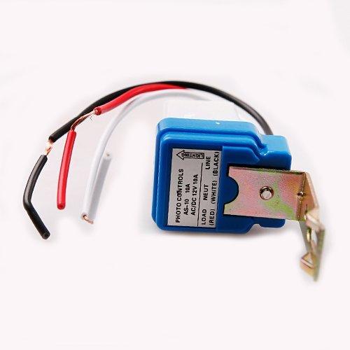 Lichtschalter, Wechselstrom/ Gleichstrom, 12 V, automatisches Ein-/ Ausschalten, Fotozelle, Lichtsensor