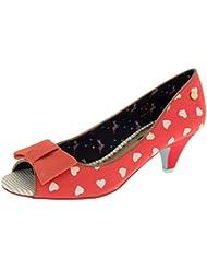 Babycham Femmes Kitten Heels peep toes chaussures Pompes