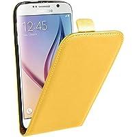 Samsung Case Cover Per il caso di cuoio di Samsung Galaxy S6 verticale flip Genuine Split ( Color : Yellow )
