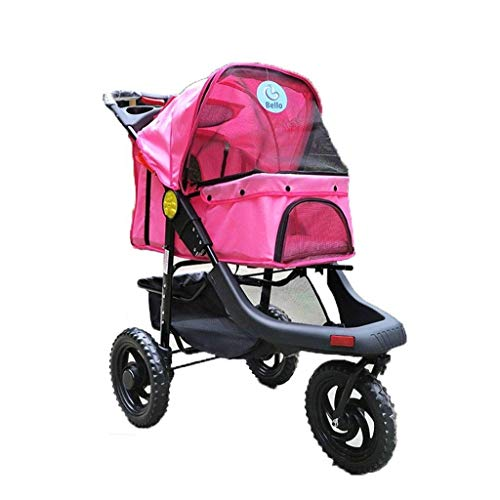 WZB - Wheelchair Faltbarer Kinderwagen Hund Katze Hundewagen Outdoor Tragbarer Kinderwagen Kinderwagen -