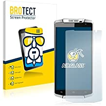 BROTECT AirGlass Protector Pantalla Cristal Flexible Transparente para Oukitel K10000 Protector Cristal Vidrio - Extra-Duro, Ultra-Ligero, Ultra-Claro