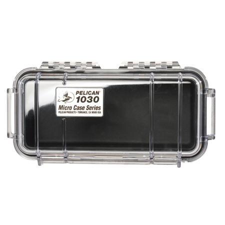 Pelican 1040 Micro Watertight Crushproof Dry Box, 7.50x5.06x2.12in - Clear w/ Yellow 1040-027-100 Pelican 1040 Micro Case