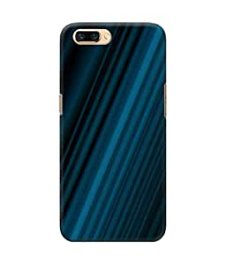 Be Awara Shiny Blue Printed Back Case Cover for Oppo R11