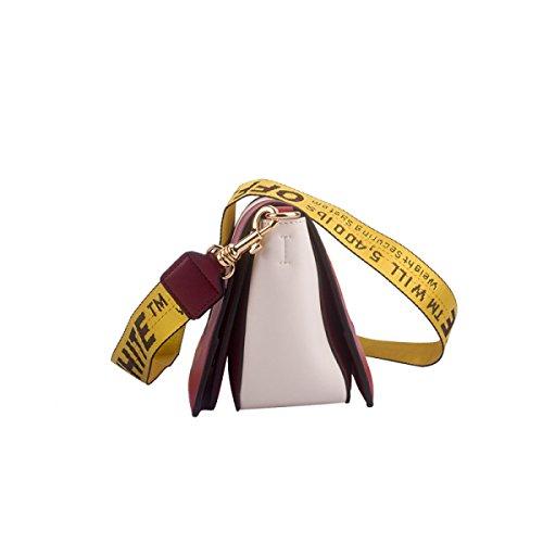 Einzelne Tasche Postman Red Umhängetasche Echtes Paket Kampf Frauen Schulter Farbe Leder zgYqwznRf