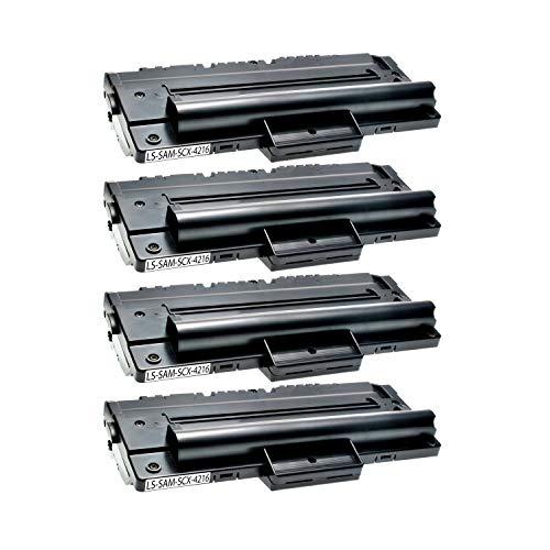 4 Toner kompatibel für Samsung SCX-4216FN 4214F 4166 4016 SF-560 565P 750 755P CF 560 750 Msys 7500 Series 755P -SCX-4216D3/ELS - Schwarz je 4.000 Seiten -