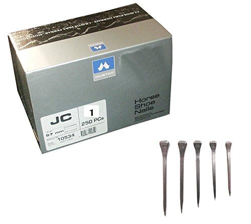 Hufnagel Hufnägel Länge 49 mm JC 1, 250 Stück in Packung | Horse Shoe Nails Pack of 250 (Mustad Nagel)