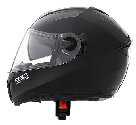 CABERG EGO ADULT MOTORCYCLE MOTORBIKE ON ROAD SAFETY FULL FACE HELMET BLACK PAINTED - Black - S