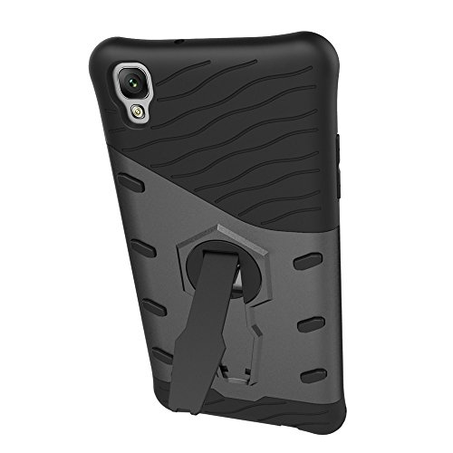 Für LG X Style Case Tough Hybrid Heavy Duty Schock Proof Defender Cover Dual Layer Armor Combo Mit Swivel Stand Schutzhülle Fall ( Color : Gold ) Black